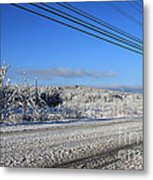 Snowy Roads Metal Print by Michael Mooney