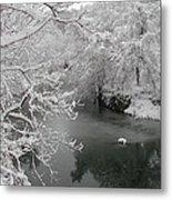Snowy Wissahickon Creek Metal Print