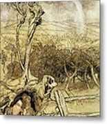 So Nobody Can Quite Explain Exactly Where The Rainbows End Metal Print by Arthur Rackham