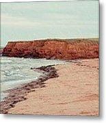 Soft Rain On The Beach Metal Print by Edward Fielding