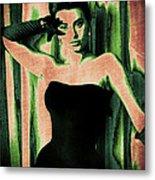 Sophia Loren - Green Pop Art Metal Print by Absinthe Art By Michelle LeAnn Scott