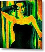 Sophia Loren - Neon Pop Art Metal Print