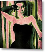 Sophia Loren - Pink Pop Art Metal Print