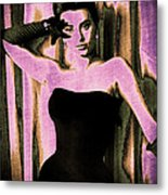 Sophia Loren - Purple Pop Art Metal Print by Absinthe Art By Michelle LeAnn Scott