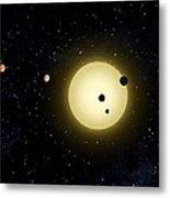 Space Kepler 11 Introduction Metal Print