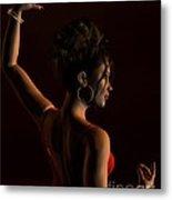 Spanish Flamenco Dancer - 1 Metal Print by Fairy Fantasies
