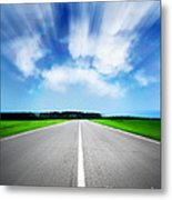 Speed Sky Metal Print by Boon Mee