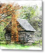 Spring Cabin II - Blue Ridge Parkway Metal Print by Dan Carmichael