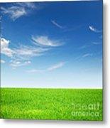 Spring Green Landscape Metal Print