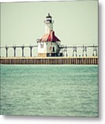 St. Joseph Lighthouse Vintage Picture  Metal Print