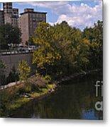 St. Joseph River Panorama Metal Print by Anna Lisa Yoder
