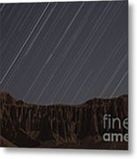 Star Trails Above Martians Valley Metal Print by Amin Jamshidi