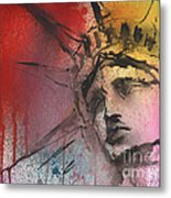 Statue Of Liberty New York Painting Metal Print