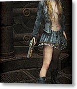 Steampunk Vixen Metal Print by Maynard Ellis