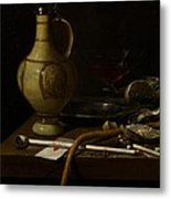 Still Life Metal Print by Jan Jansz van de Velde