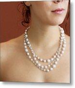 Strand Of Pearls Metal Print by Margie Hurwich