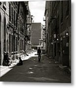 Street In Sunshine Metal Print by Jocelyne Choquette