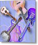 Stringed Instruments Metal Print by Design Pics Eye Traveller