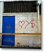Strip District Doorway Number Fout Metal Print by Amy Cicconi