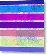 Stripes Abstract Art Metal Print