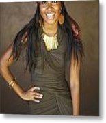 Studio Portrait Of African American Model Metal Print by Kicka Witte