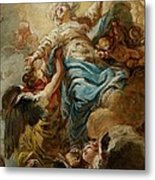 Study For The Assumption Of The Virgin Metal Print by Jean Baptiste Deshays de Colleville