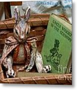 Stuffed Rabbit And Uncle Wiggly Book Metal Print by Amy Cicconi