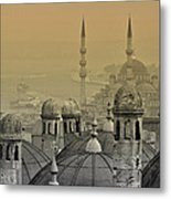Suleymaniye Mosque And New Mosque In Istanbul Metal Print by Ayhan Altun