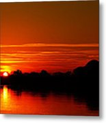 Sunrise At Jefferson Memorial Metal Print by Metro DC Photography