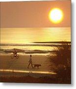 Sunrise At Topsail Island 2 Metal Print by Mike McGlothlen