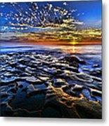 Sunset At La Jolla Tide Pools Metal Print by Peter Dang