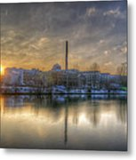 Sunset On The Esifabrik Metal Print by Nathan Wright
