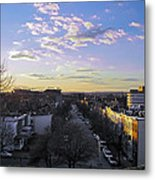 Sunset Row Homes Metal Print