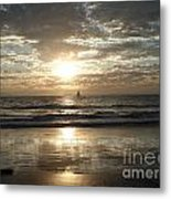 Sunset Sail Metal Print by Crystal Joy Photography