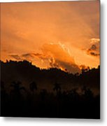 Sunset Silhouette Metal Print by Kim Lagerhem