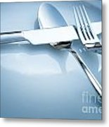 Table Place Setting Metal Print by Mythja  Photography