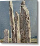 Tall Stones Of Callanish Isle Of Lewis Metal Print