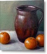 Tangerines Metal Print by Janet King