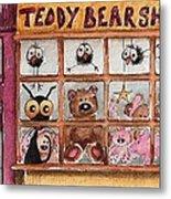 Teddy Bear Shop Metal Print
