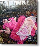 Teddy Bears Picinic Metal Print by Shelley Laffal