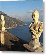 Terrace Of Infinity In Ravello On Amalfi Coast Metal Print