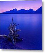 Teton Summer Sunset Metal Print by Jerry Patterson