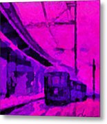 The 7am Train Tnm Metal Print by Vincent DiNovici