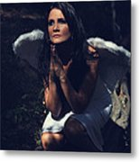 The Angel Prayed Metal Print by Laurie Search