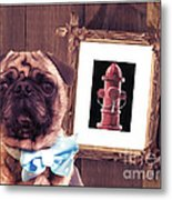 The Artist And His Masterpiece Metal Print by Edward Fielding
