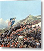 The Battle Of Alma On 20th September Metal Print by Edmund Walker