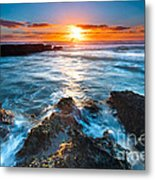 The Beautiful Sunset Beach Metal Print by Boon Mee