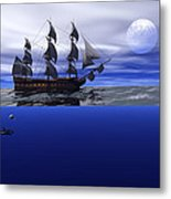The Blue Deep Metal Print