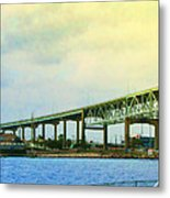 The Bridge Begins The Day Metal Print by Wendy J St Christopher