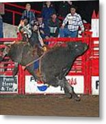 The Bull Rider Metal Print by Larry Van Valkenburgh